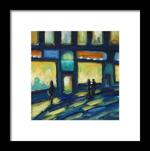 Town Framed Print featuring the painting Just Looking by Richard T Pranke