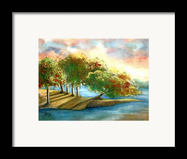 Landscape Framed Print featuring the painting Just My Imagination by Vivian Mosley