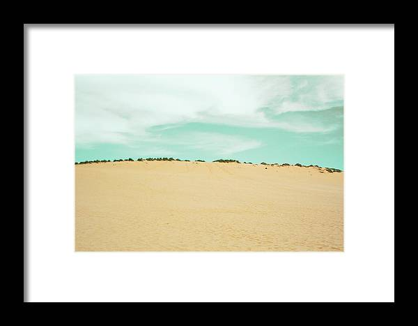 Dune Framed Print featuring the photograph Just Over That Rise by Keith Kadwell