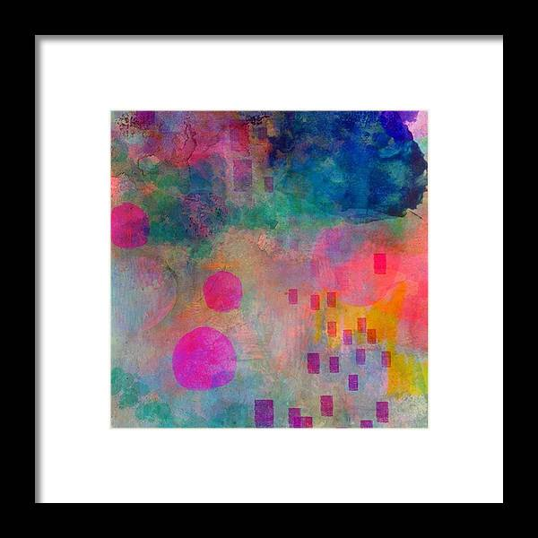 Abstractart Framed Print featuring the photograph Just Playin With My Ipad..too Lazy by Robin Mead