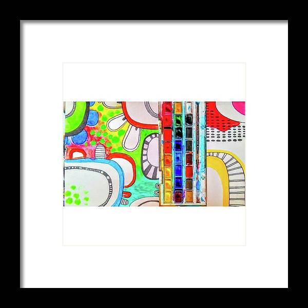 Shapes Framed Print featuring the photograph Just Playing With Some #shapes And by Robin Mead