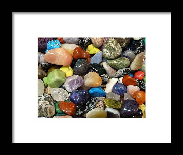 Stones Framed Print featuring the photograph Just Stoned by Florene Welebny