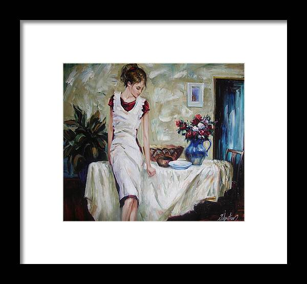 Figurative Framed Print featuring the painting Just the next day by Sergey Ignatenko