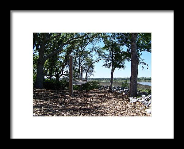 Hammock Framed Print featuring the photograph Just The Place For A Nap by Carol Bradley