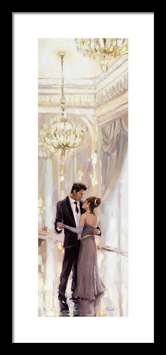 Romance Framed Print featuring the painting Just The Two Of Us by Steve Henderson