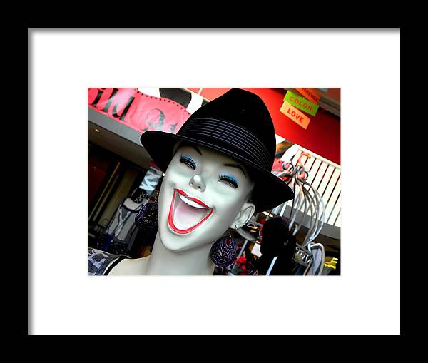 Mannequin Framed Print featuring the photograph Just Try Laughing Gas by Elizabeth Hoskinson