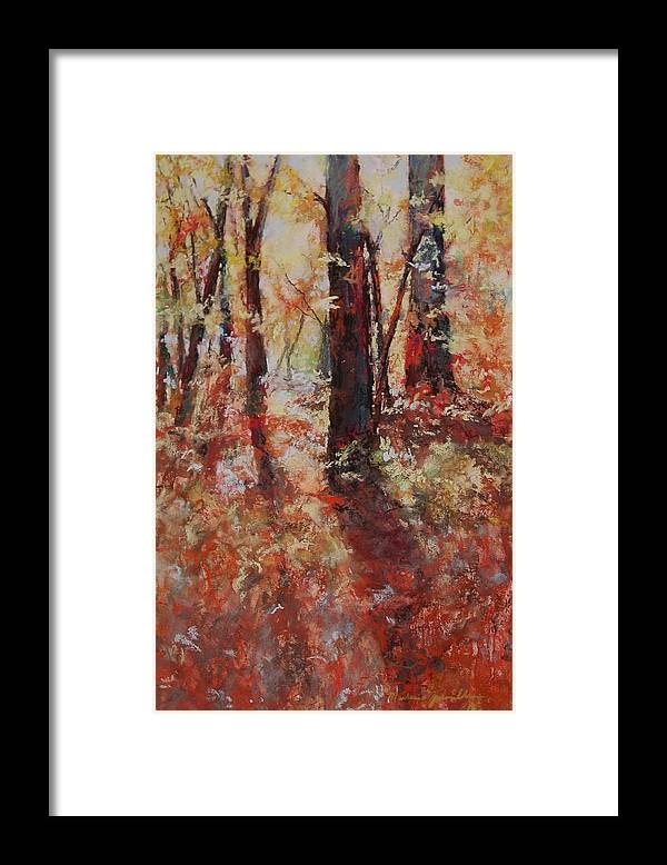 Landscape Framed Print featuring the painting Just Waking by Marlene Gremillion