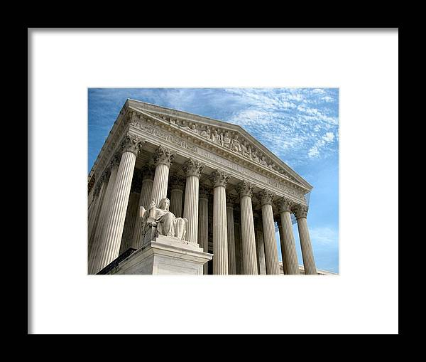 Washington Dc Framed Print featuring the photograph Justice by Camera Candy