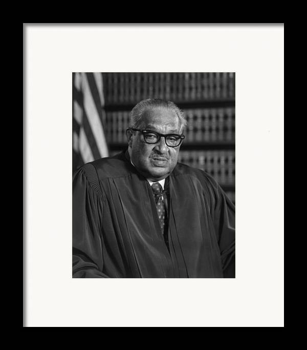 History Framed Print featuring the photograph Justice Thurgood Marshall 1908-1993 by Everett