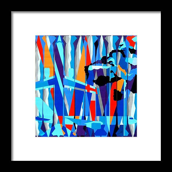 9/11 Framed Print featuring the painting Justify by Dennis McCann
