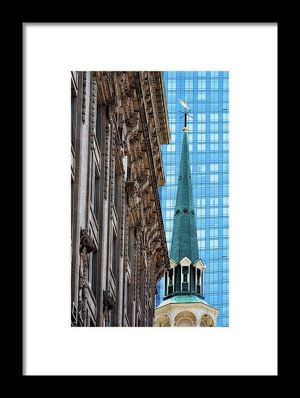 Boston Framed Print featuring the photograph Juxtaposed by John Hoey