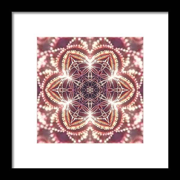 Framed Print featuring the digital art Jyoti Ahau 3 by Robert Thalmeier