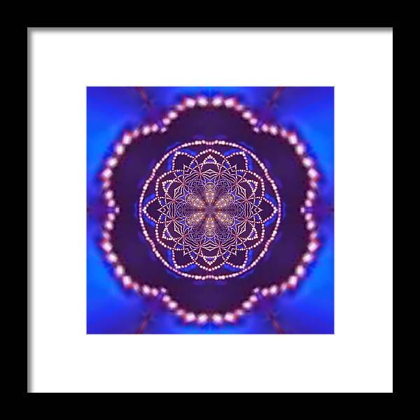 Framed Print featuring the digital art Jyoti Ahau 5 by Robert Thalmeier