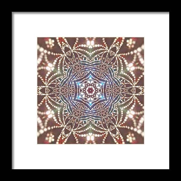 Light Framed Print featuring the digital art Jyoti Ahau 6 by Robert Thalmeier