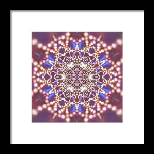 Framed Print featuring the digital art Jyoti Ahau by Robert Thalmeier