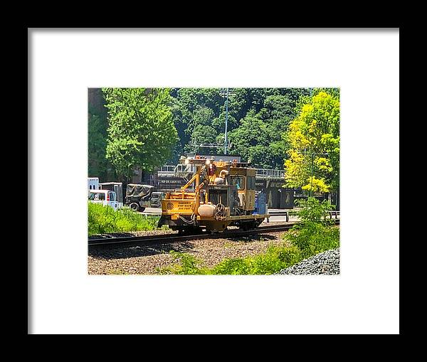 The Kka 1050 Is A Heavy Duty Kribber Adzer That Is Designed For Clearing Out The Cribs (at The Tie Plate Area) And Adzing The Ties In A Continuous Operation. Newly Redesigned Framed Print featuring the photograph K K A 1050 by William Rogers