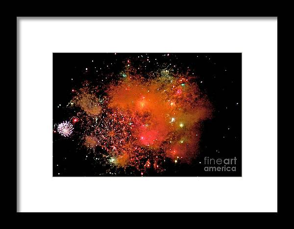 Fire Works Framed Print featuring the photograph Ka Boom by Robert Pearson