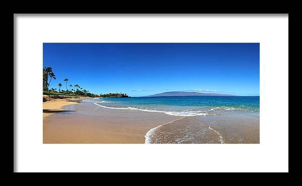 Kaanapali Beach In Maui Hawaii Framed Print