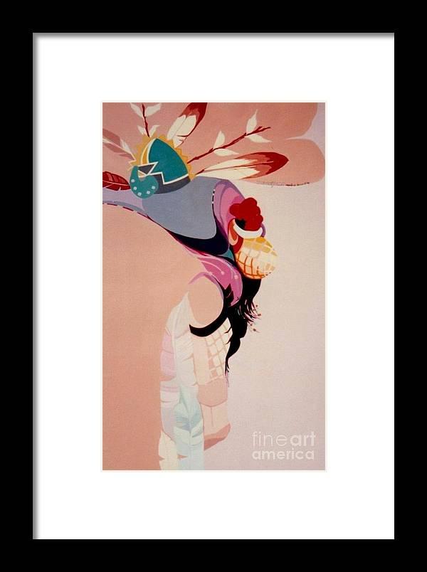 Kachina Framed Print featuring the painting Kachina 1 by Marlene Burns