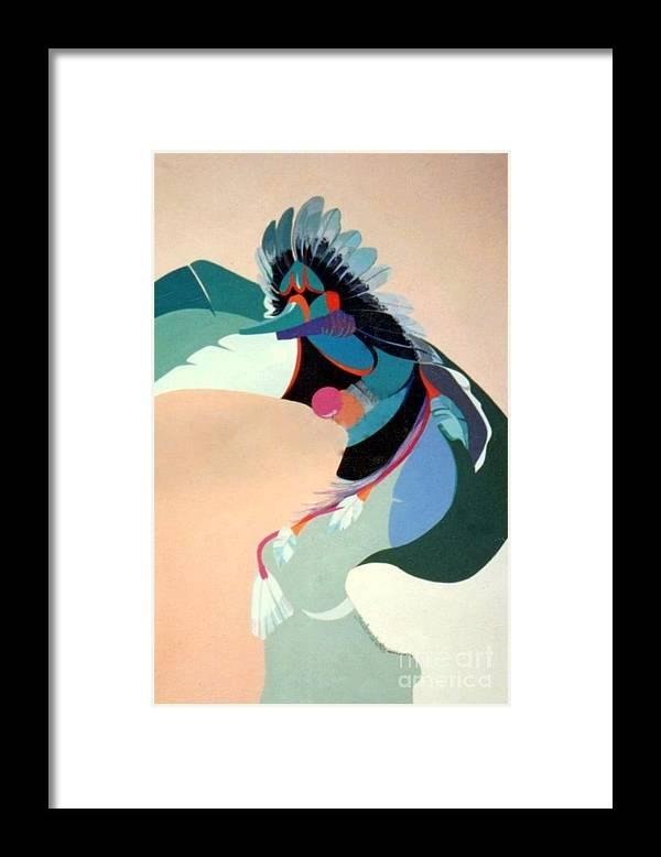 Kachina Framed Print featuring the painting Kachina 2 by Marlene Burns
