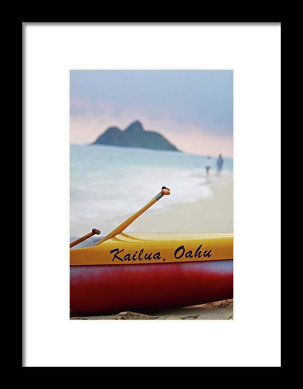 Kailua Beach Framed Print featuring the photograph Kailua Paddleing by Ty Helbach