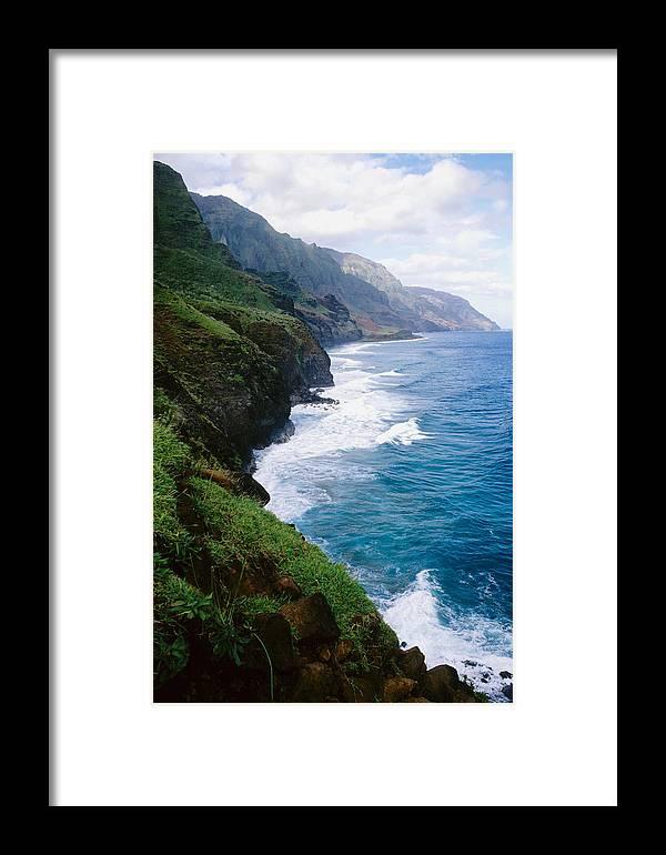 Na Pali Coast Framed Print featuring the photograph Kalalau Trail by Kevin Smith