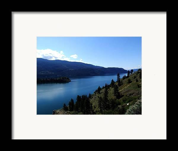 Lake Framed Print featuring the photograph Kalamalka Lake by Tiffany Vest
