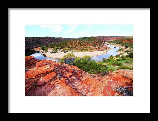 Kalbarri National Park Framed Print featuring the photograph Kalbarri National Park 2am-29388 by Andrew McInnes