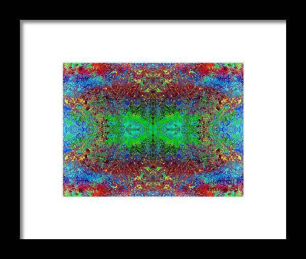 Bright Colors Framed Print featuring the digital art Kaleidoscope 2 by Michele Rose