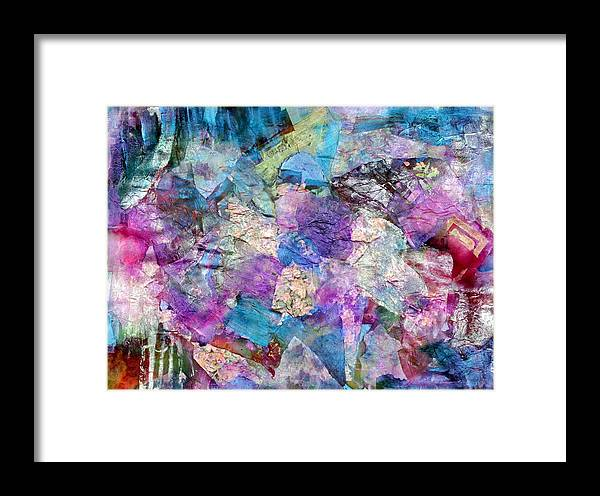 Acrylic Paint Framed Print featuring the painting Kaleidoscope by Don Wright