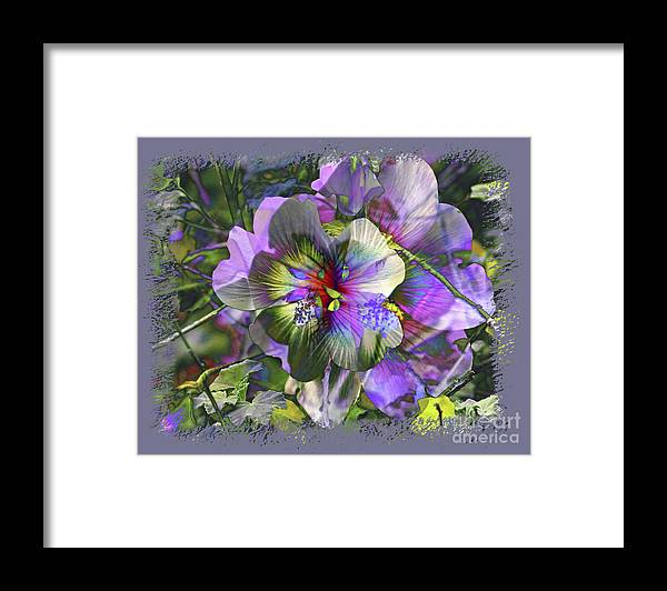 Flower Framed Print featuring the photograph Kaleidoscope Pollen by Chuck Brittenham
