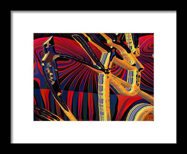 Digital Art; Abstract Art; Bryce 3-d Framed Print featuring the digital art Kali-fa-callig10x11m8 by Terry Anderson