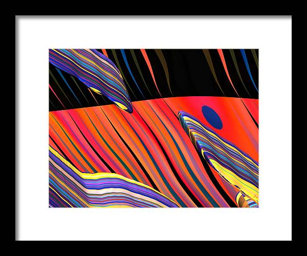Abstract Art; Digital Fine Art; Calligraphy; Bryce Renderings Framed Print featuring the digital art kali.fa-Papillon - Callg. 10z11m9 by Terry Anderson