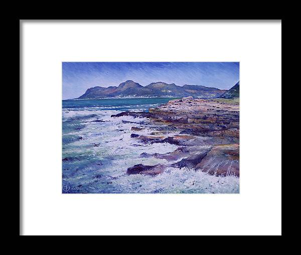 Kalk Bay South Africa Framed Print featuring the painting Kalk Bay And Fish Hoek Cape Town South Africa 2006 by Enver Larney