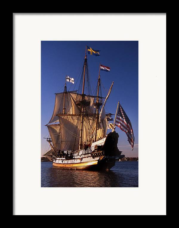 Sail Framed Print featuring the photograph Kalmar Nyckel by Skip Willits