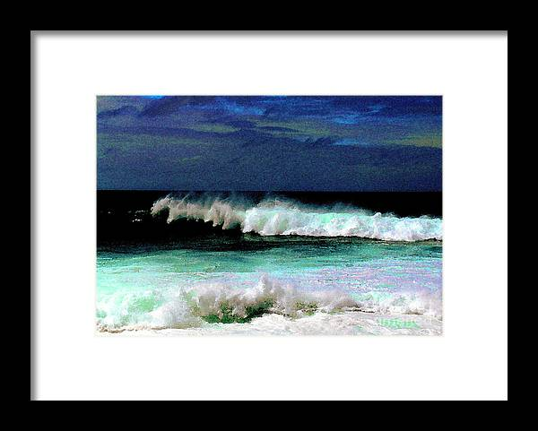 Waves Framed Print featuring the photograph Kaluakoi Surf by James Temple