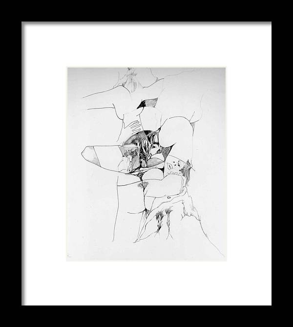 Forms Framed Print featuring the drawing Kama Sutra by Padamvir Singh