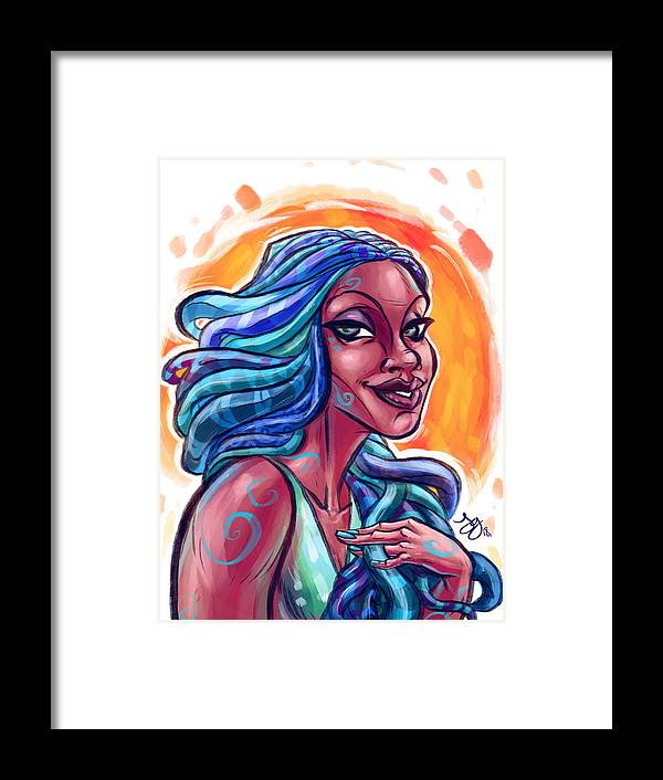 Illustration Framed Print featuring the digital art Kamaria by Jayson Green