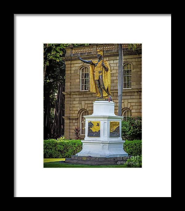Jon Burch Framed Print featuring the photograph Kamehameha The Great by Jon Burch Photography