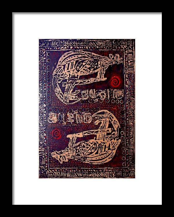 Tribal Framed Print featuring the painting Kangaroo by Dale Witherow