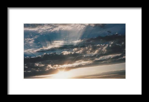 Landscape Framed Print featuring the photograph Kansas Evening by Gene Linder