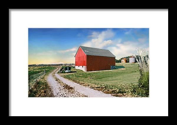 Barn Framed Print featuring the photograph Kansas landscape II by Steve Karol