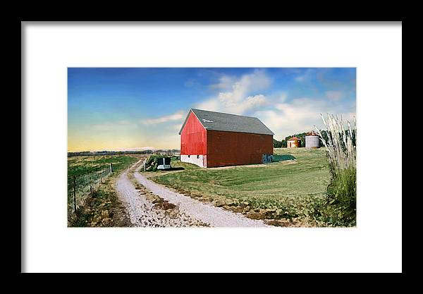 Barn Framed Print featuring the photograph Kansas Landscape II by Steve Karol