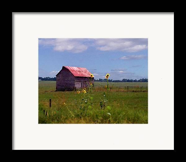Landscape Framed Print featuring the photograph Kansas Landscape by Steve Karol