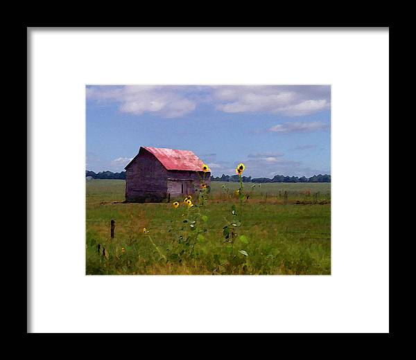 Landscape Framed Print featuring the photograph Kansas Landscape by Steve Karol