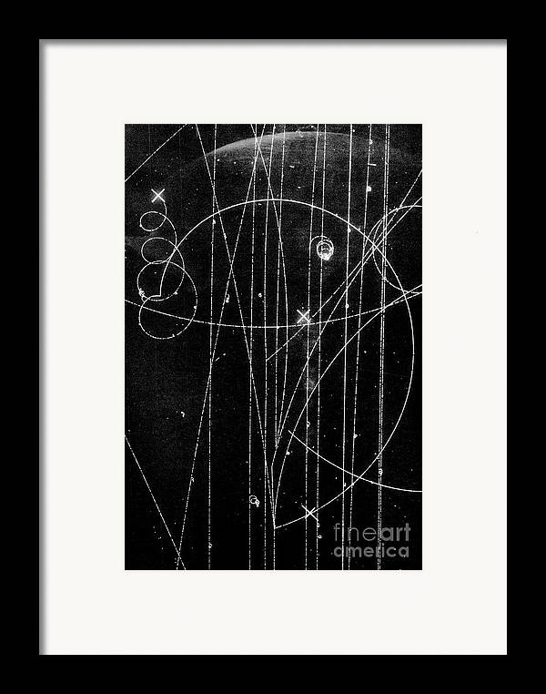 Anti-electron Framed Print featuring the photograph Kaon Proton Collision by SPL and Photo Researchers