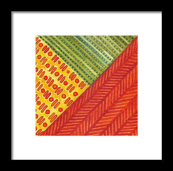 Kapa Framed Print featuring the painting Kapa Patterns Triangle 1 by Cynthia Conklin