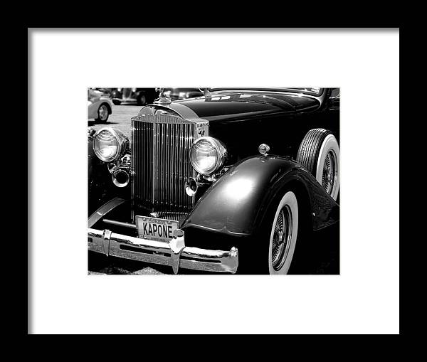 Car Framed Print featuring the photograph Kapone by Audrey Venute