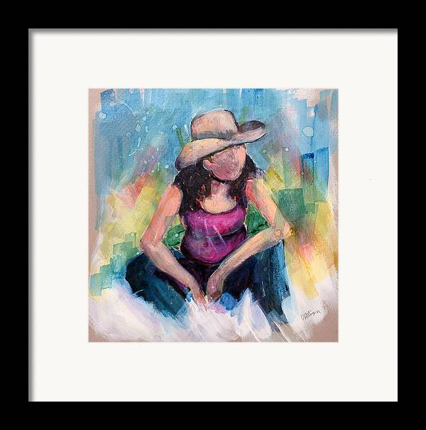 Abstract Framed Print featuring the painting Kara by Deborah Allison