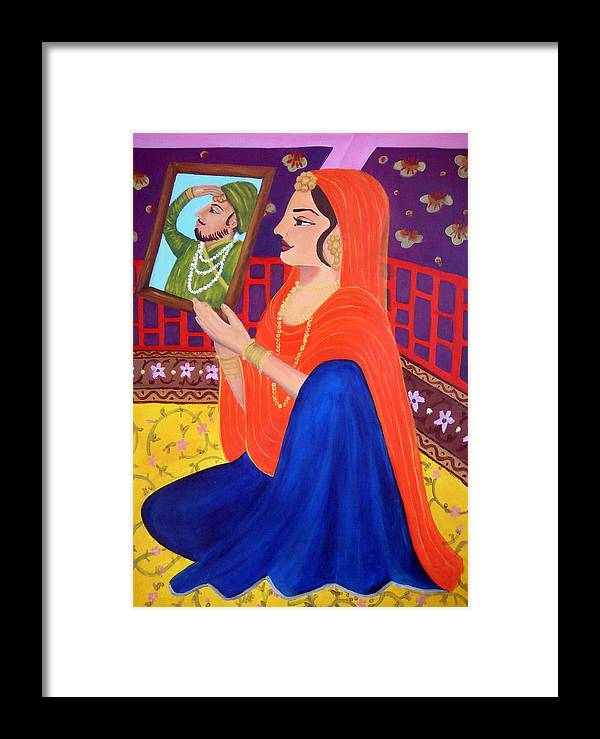 India Framed Print featuring the painting Karma Sutra by Jenni Walford